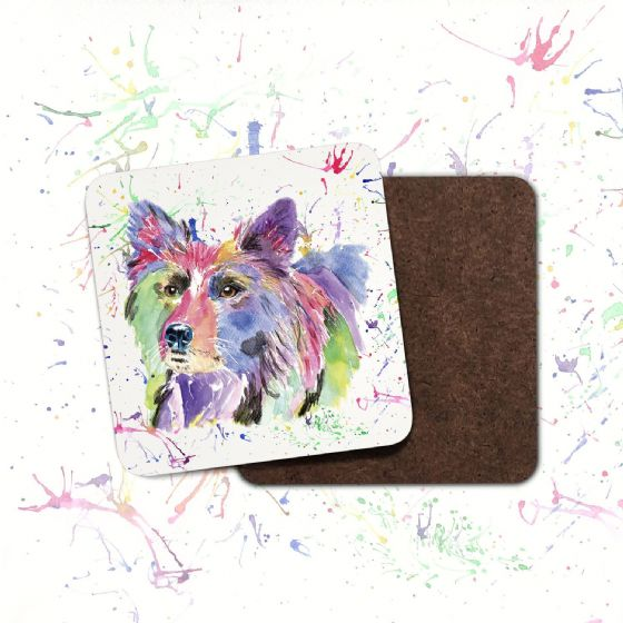 Hardboard Coaster (Collie)